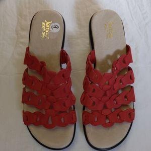Jambu Memory Foam Slip-on Leather Sandals